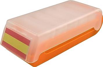 Helit Boite A Cartes De Visite Et Fiches A7 Beebox Orange