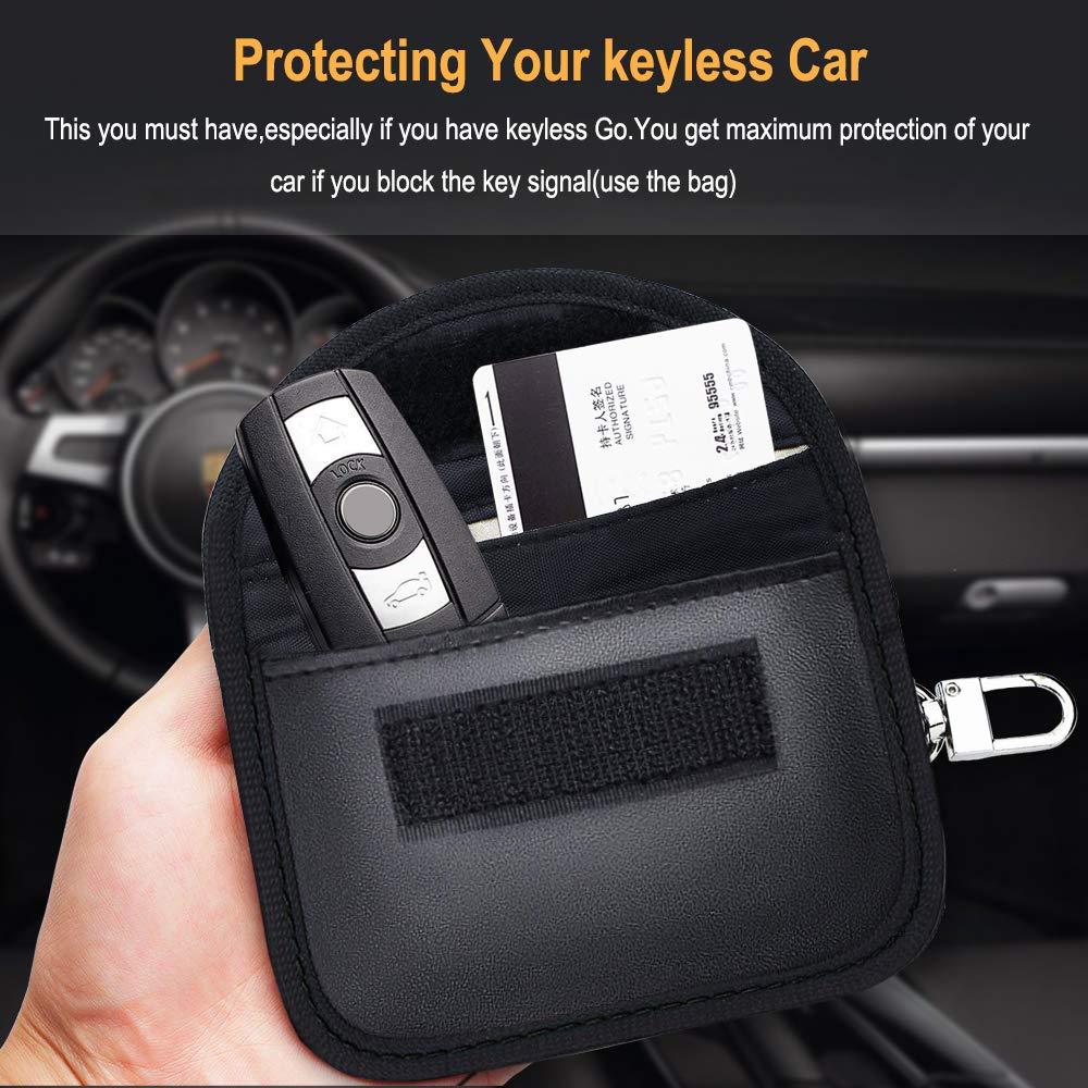 RFID Schl/üsseltasche Autoschl/üssel,Keyless Go Schutzh/ülle Etmury Keyless Go Schutz Autoschl/üssel Autoschl/üssel Sschutz Keyless H/ülle 2 Pack