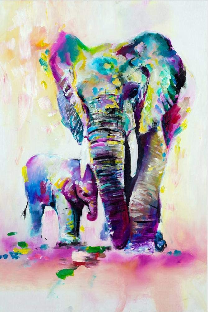 10 and Adults Puzzles for Kids Ages 4-8 Animal Shaped Floor Jigsaw Puzzles 8-10 Elephant Elephant 200 Pieces Forest World