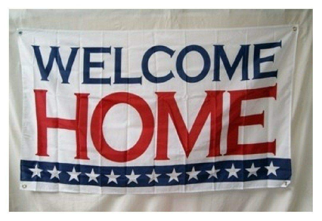 Trade Winds 3x5 Welcome Home 13 Stars Flag 3'x5' Banner Brass Grommets Military Banner Premium Fade Resistant