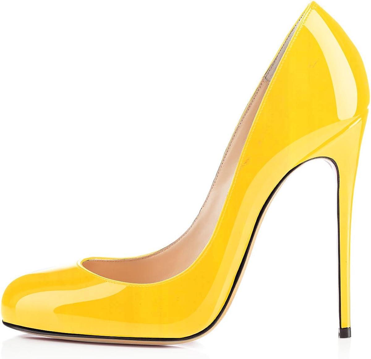 Soireelady Womens Ladies 12CM High Heels Smart Round Toe Court Shoes