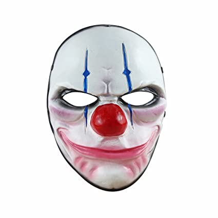 Digo3D Halloween Mask, Payday 2 Theme Game Mask Horror Cosplay Party,  Fencing, War-Game, Costume Play More (Payday2 Chains)