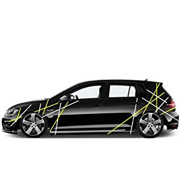 Auto Seiten Aufkleber Car Tattoo Sticker Streifen Lininen 1
