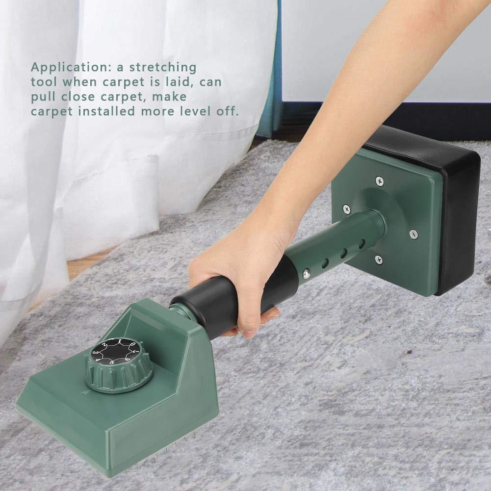 Yinhing Herramienta de instalaci/ón de alfombras Herramienta de Ajuste de alfombras Ajustable para Trabajo Pesado Instalador de Camilla de Patada en la Rodilla