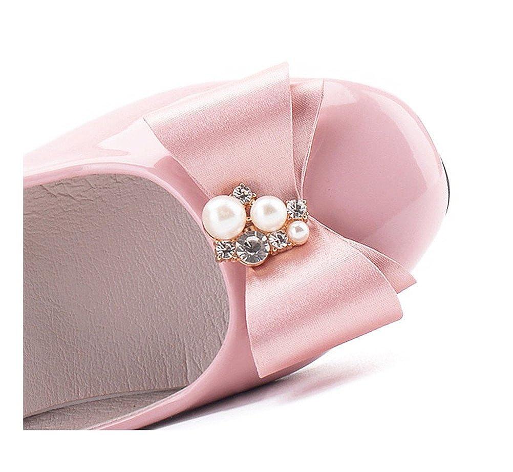 Flyrioc Girls Little Heel Ballet Dress Shoes Princess Mary Jane Floral Dress Little Kid//Little Girls F90601