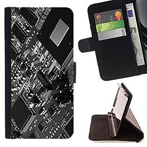 BullDog Case - FOR/LG G3 / - / computer technology chip art code programming /- Monedero de cuero de la PU Llevar cubierta de la caja con el ID Credit Card Slots Flip funda de cuer