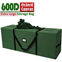 """AerWo Christmas Tree Storage Bag - Fits Up to 8 Ft Holiday Xmas Disassembled Trees, Heavy Duty Holiday Tree Storage Bag Xmas Tree Bag with Durable Reinforced Handles (50"""" X 20"""" X 15"""")"""