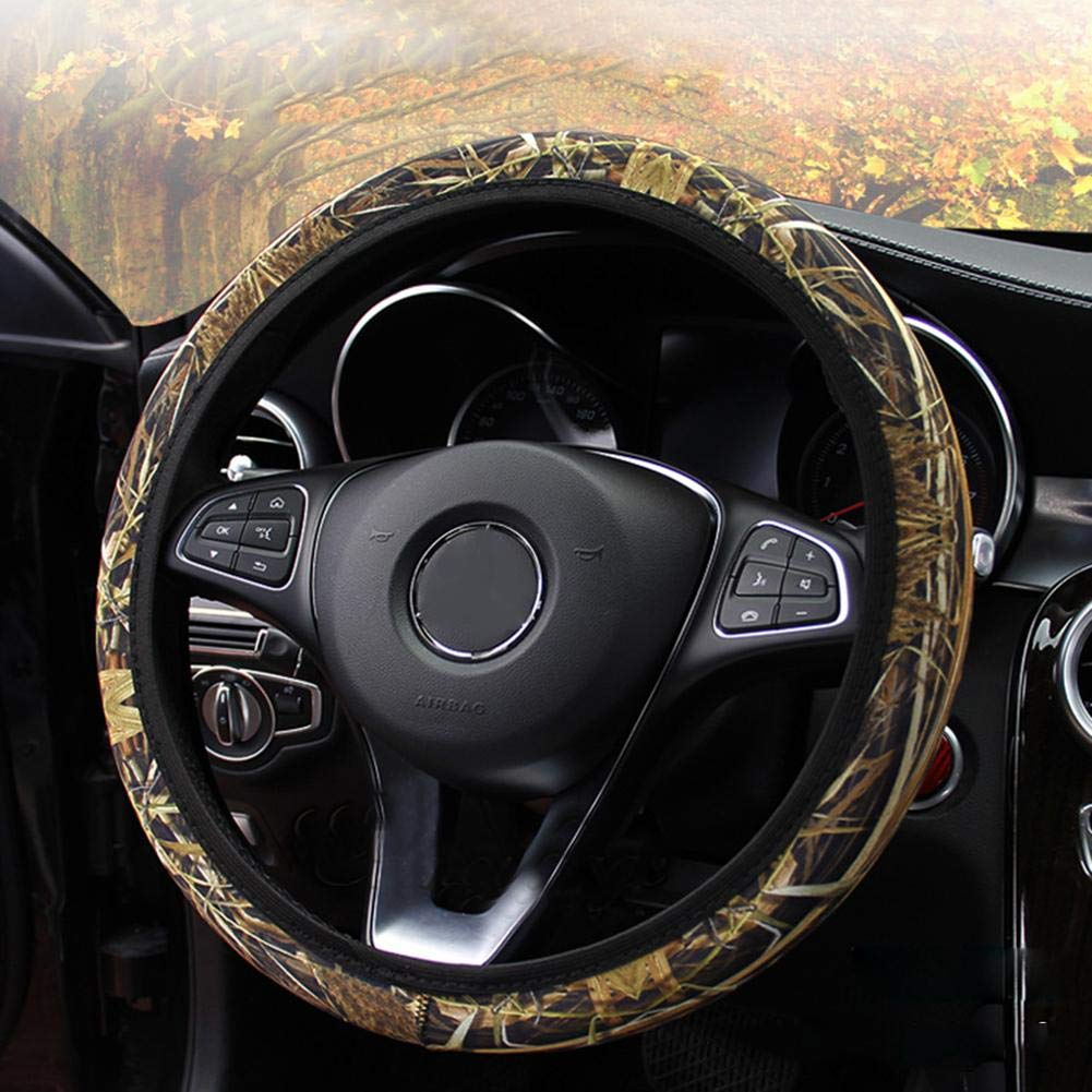 Hohe Elastizit/ät Auto Lenkradbezug Anti-Rutsch-Lenkradschutz Universal 38 CM 15 Zoll D Form Camouflage Lenkrad Wrap Abdeckungen f/ür die meisten Automotive