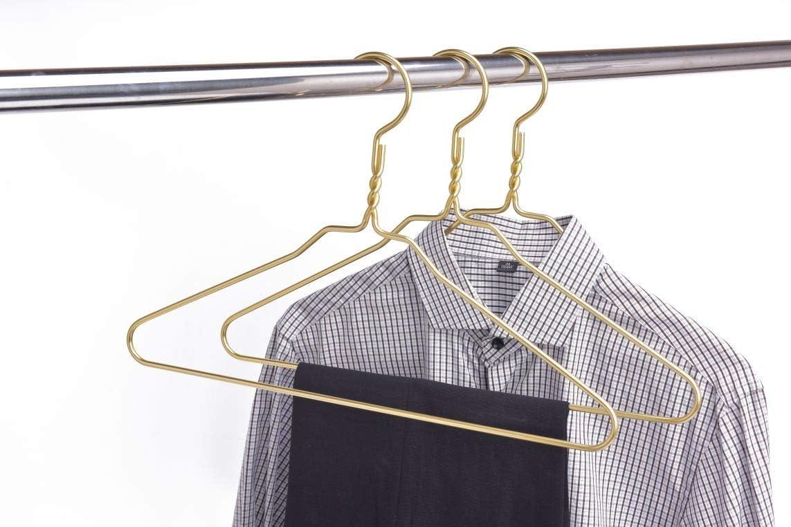 Premium Bronze Vintage Metal Wire Hangers For Clothes Sleek Fancy Replacement
