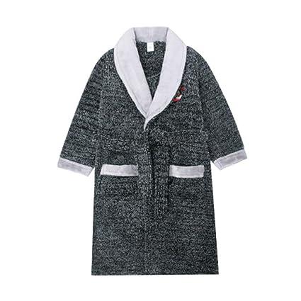 Pijamas dos piezas Bata de Noche Bata de niño de Invierno. Franela Acolchada vellón Coral