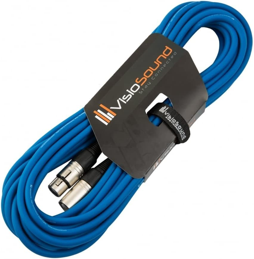 7 Colours 1m Red Male to Female XLR Mic Lead//Balanced Microphone//Mic Patch Cable