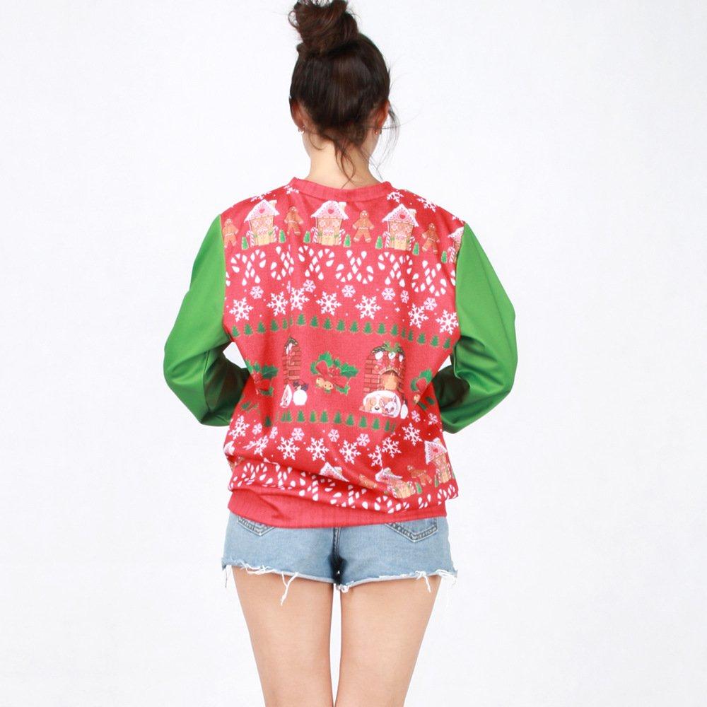 Christmas Sweatshirt Pullover Long Sleeve Shirts Unisex Women
