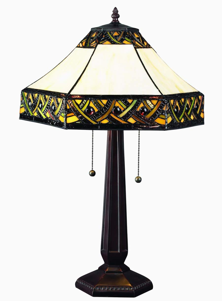 Chloe CH15913GF17-TL2 Marisa Tiffany-Style Table Lamp with 17 Shade