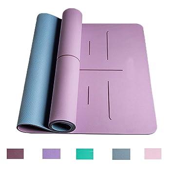 Doble Cara Estera de Yoga de Dos Colores Ampliada 80 ...