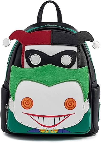 DC Joker and Harley Quinn Mini Backpack POP by Loungefly Standard