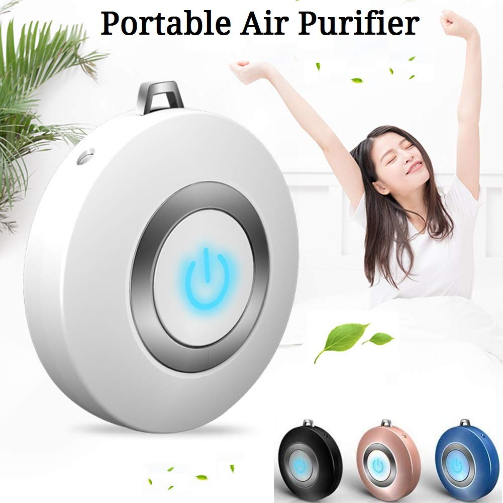 USB Portable Mini Air Purifier Negative Ion Neck Hanging Home for PM2.5 Smoke Y