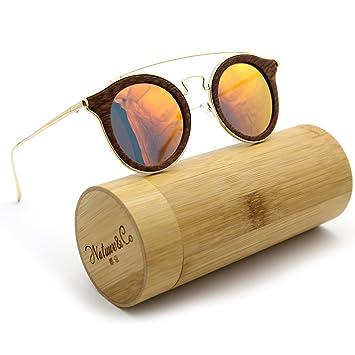 natwve & Co polarizadas de Bambú de madera gafas de sol 2018 Nueva Moda Estilo con