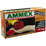 AMMEX - IVSPF44100-BX - Stretched Vinyl - GlovePlus - Disposable, Powder Free, 4 mil, Medium, Clear (Box of 100)