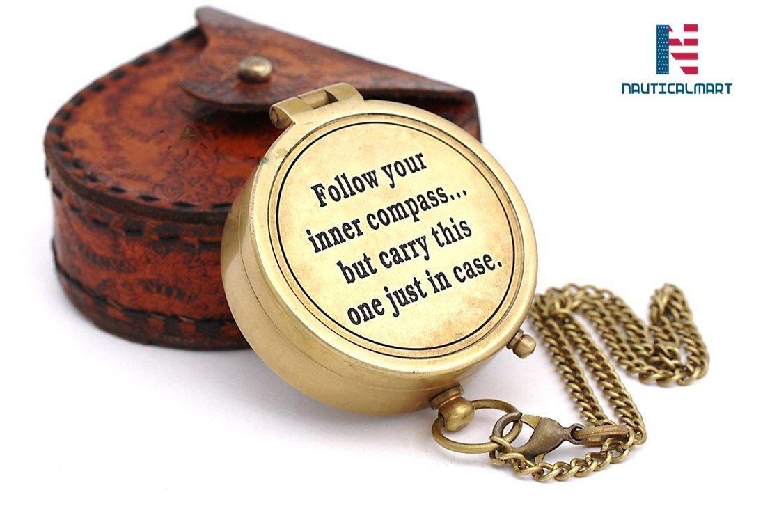 NAUTICALMART真鍮コンパス B07D9LT849 Quote4 Quote4