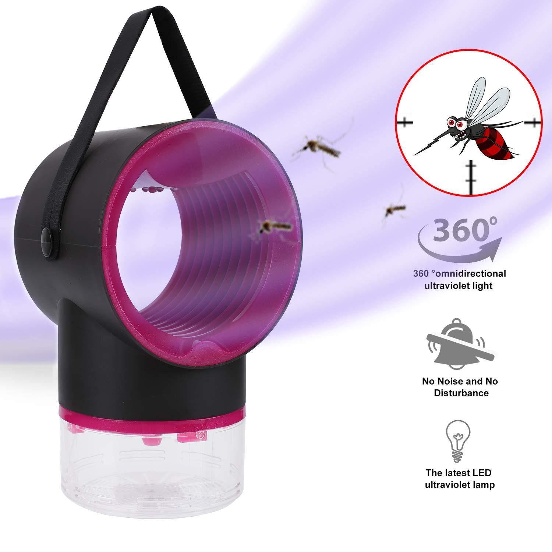 Herefun L/ámpara Antimosquitos Electrico L/ámpara Anti Mosquitos LED Mosquitos L/ámpara de Mosquitos para la Interior Cocina la Sala de Estar el Cuarto de los Ni/ños Negro L/ámpara de Mosquito