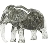 Kimanli 3D Crystal Blocks Building Toy Gift Puzzle Cute Elephant Model DIY Gadget (Gray)