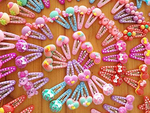 44 Pcs / 22 paires Mix couleur petit bébé/bambin/filles cheveux pinces à cheveux en épingle à cheveux / Hair Clips taille 30mm
