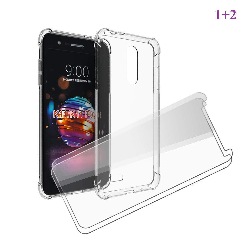 JIENI Funda para LG K11 Plus Cover,Suave Transparente TPU Silicona ...