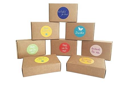 EAST-WEST Trading GmbH 12 Cajas de Regalo Natural Marrón para Regalos pequeños,