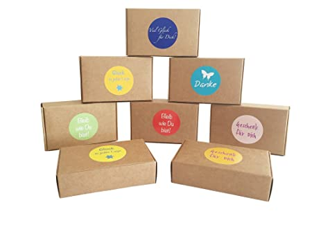 12 natural brown gift box for little gifts biscuits sweets