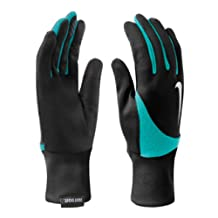 Nike Women's Element Thermal 2.0 Run Gloves Black/Light Aqua LG