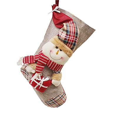 christmas stockings xmas character big size classic socks with faux fur cuff christmas decorations 1 - Big Stockings For Christmas