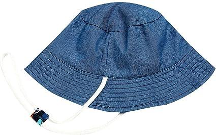 PinkLu Niño Sombrero Bebe Azul Sombrero Paja niña Estampado de ...