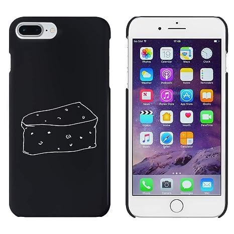 Azeeda Negro Cuña De Queso Funda / Carcasa para iPhone 7 ...