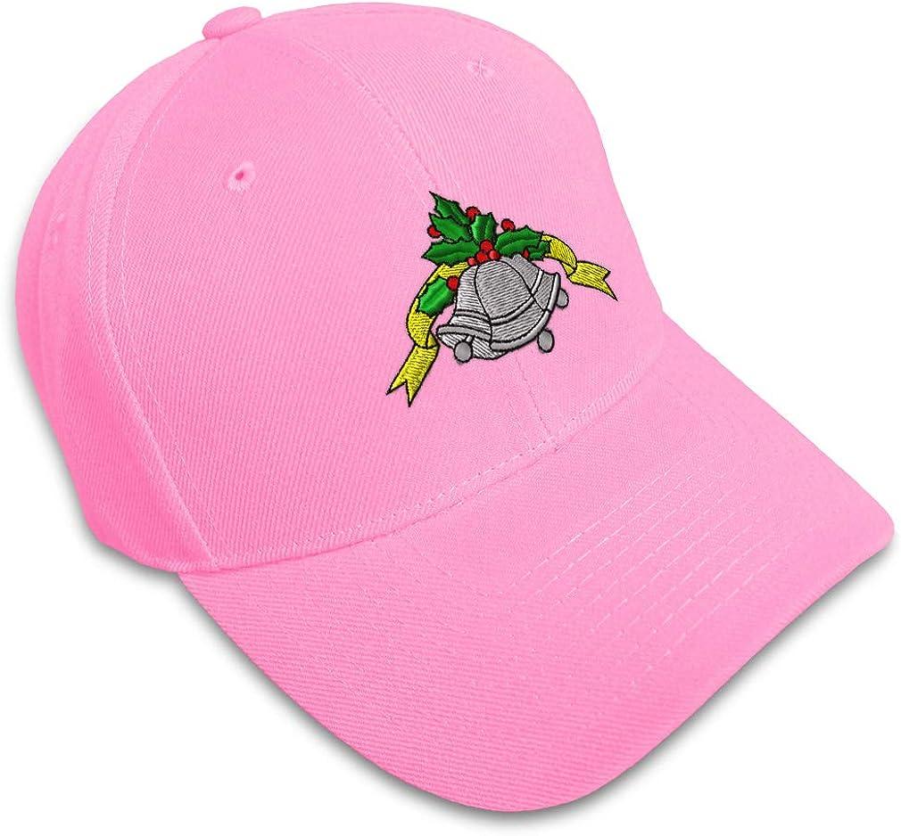 Custom Baseball Cap Christmas Bells Embroidery Acrylic Dad Hats for Men /& Women