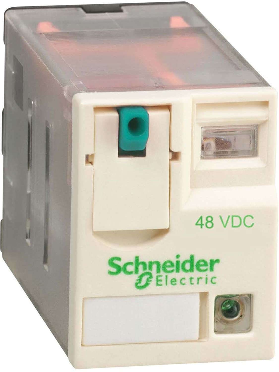 Schneider Electric RXM4AB2ED Mini Relay+LED 48VDC, Miniature Plug-In Relay - Zelio Rxm 4 C/O 48 V Dc 6 A With Led