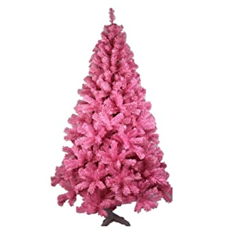 Xiuxiandianju Christmas Tree 4 9ft 150cm Pink Artificial Pink