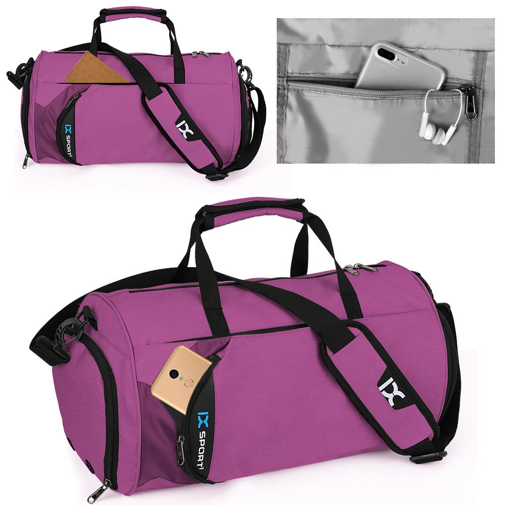 50b99329746 INOXTO Fitness Sport Small Gym Bag with Shoes Compartment Waterproof Travel  Duffel Bag for Women and