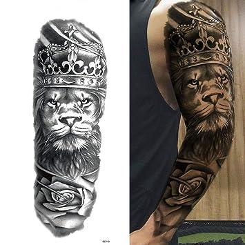 7pcs Tatuaje etiqueta engomada del tatuaje de hoja de oro largo ...