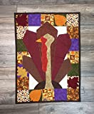 Handmade Autumn Thanksgiving Patchwork Aplique Quilting Banner Tapestry