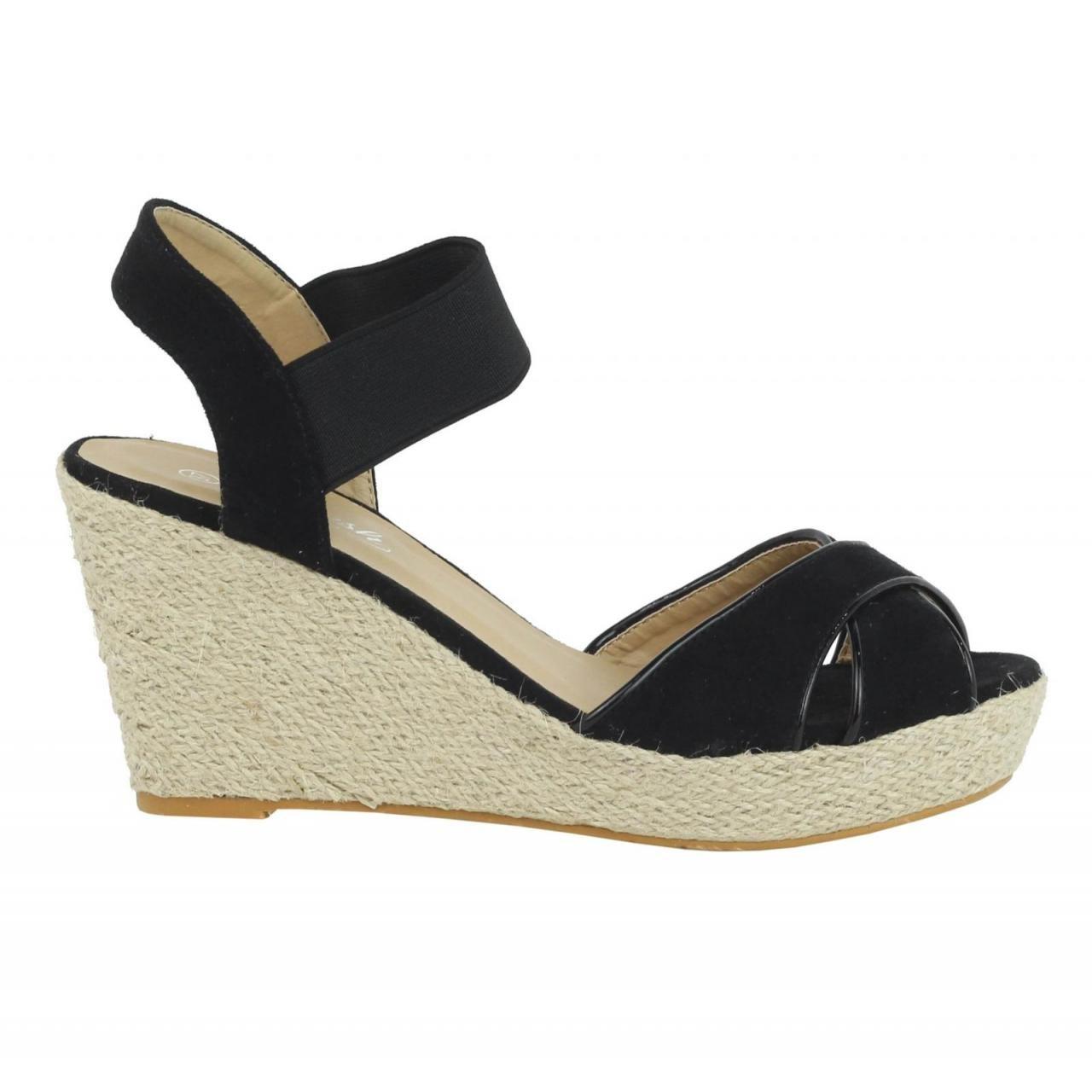 Refresh Schuhe Keilabsatz für Damen 61953 61953 61953 ANT schwarz ff1456