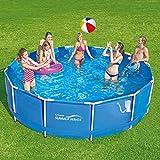 Summer-Waves-Frame-Pool-366x91cm-Rahmen-Swimming-Pool-Familien-Schwimmbad-mit-Filterpumpe