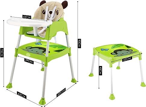 acecoree Niños Baby Trona plegable asiento infantil para mesa ...