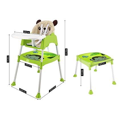 acecoree Niños Baby Trona plegable asiento infantil para ...
