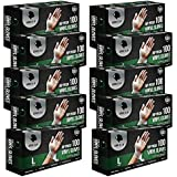1000 Rip Proof Vinyl Gloves Large L, Powder Free