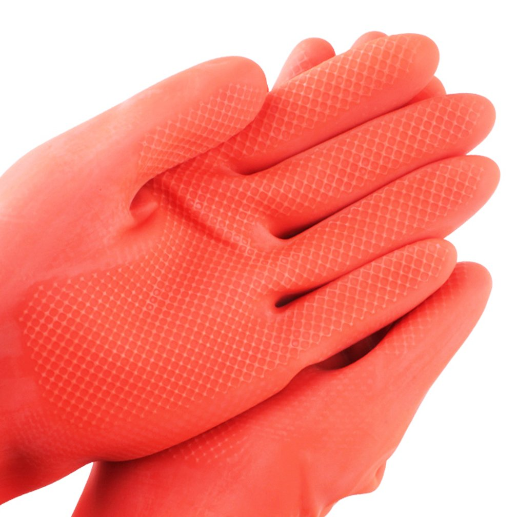 SYROVIA Wholesale Reusable Waterproof Household Gloves All Purpose Cleaning Long Glove Kitchen Natural Rubber Living Wash Gloves by SYROVIA (Image #4)
