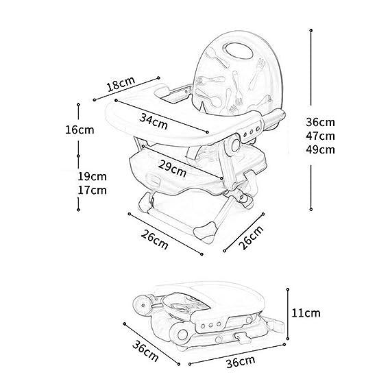 Silla para bebé portátil Plegable niñito Asiento Elevador para Mesa Ajustable (Color : Green): Amazon.es: Hogar