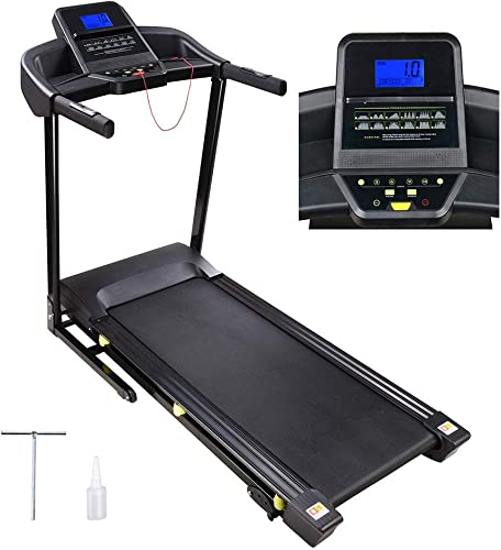 AW 3.0HP Folding Electric Treadmill Motorized Running Walking Machine Cardio Trainer with LCD 49 x18 Running Belt