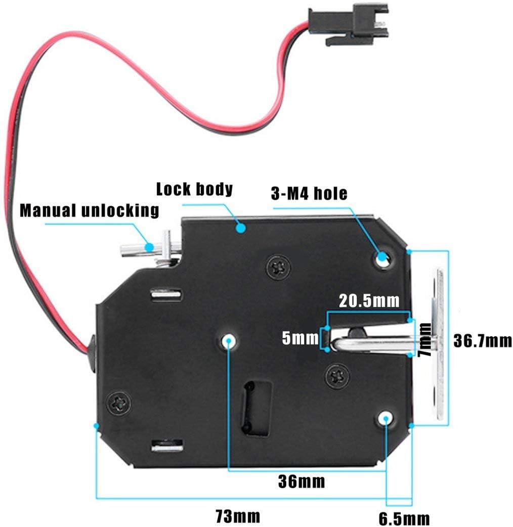 330lb Cerradura magn/ética el/éctrica Puerta Control DC 12V Gabinete Caj/ón Cerradura electromagn/ética con desbloqueo de emergencia Sairis 150KG negro