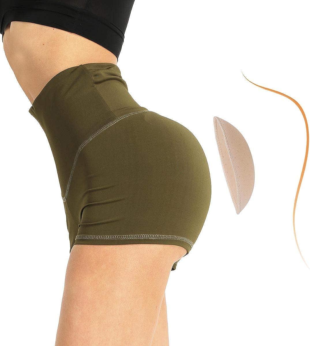 Alvivi 1 Pair Foam Padded Hip Butt Enhancer Enhancing Butt Control Knikcers Bodyshaper Shapewear