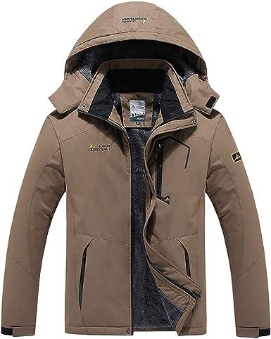 Men Winter Mountain Jacket Warm Snow Waterproof Ski Jacket Coat Softshell Windproof Hooded Raincoat